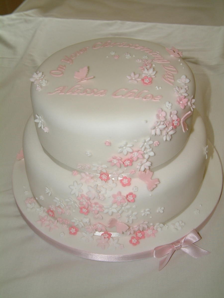 Pink Blossoms And Butterflies on Cake Central