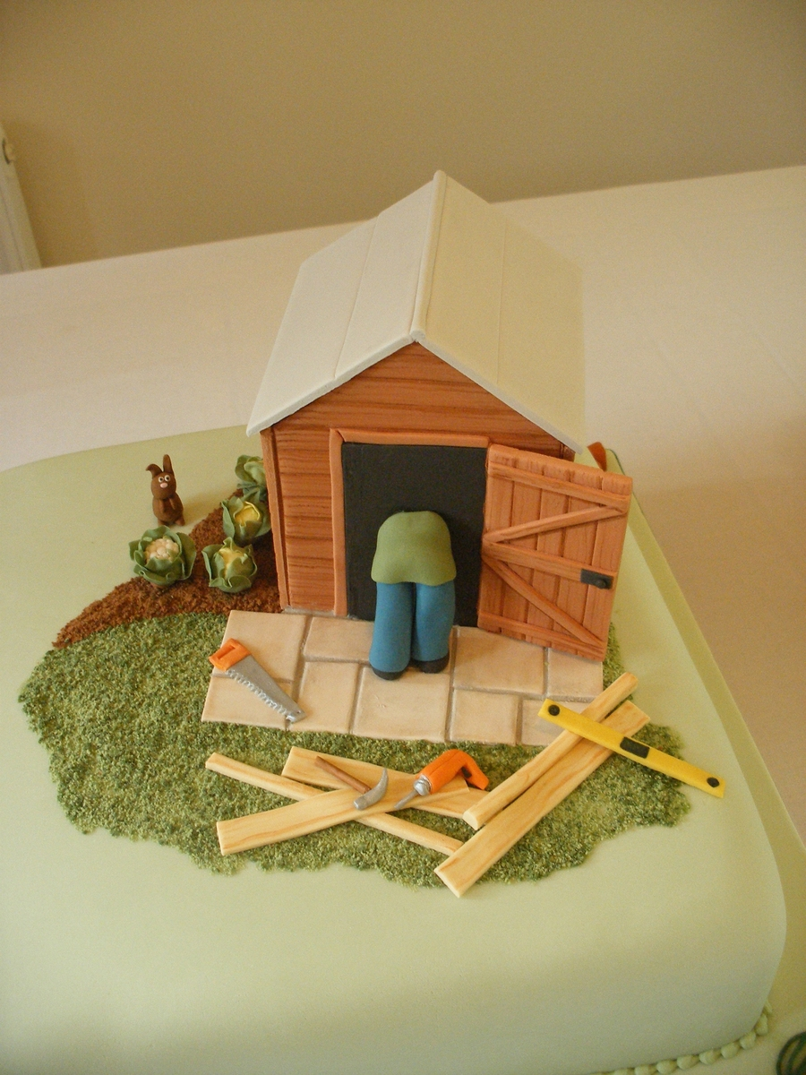 Shed And Tools on Cake Central