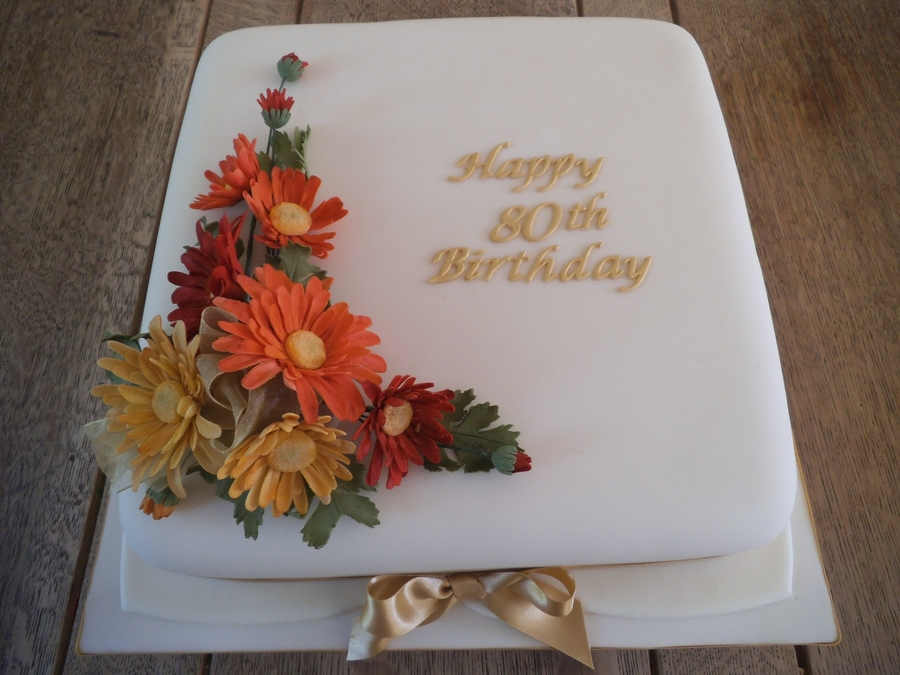 Chrysanthemums on Cake Central