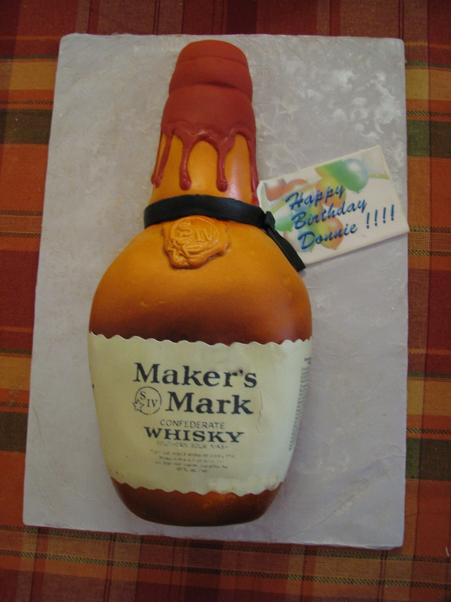 Amazing Liquor Bottle Birthday Cake Cakecentral Com Funny Birthday Cards Online Alyptdamsfinfo
