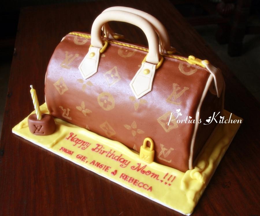 Designer Handbag Lv Speedy 30 Inspired 3d Cake Cakecentral