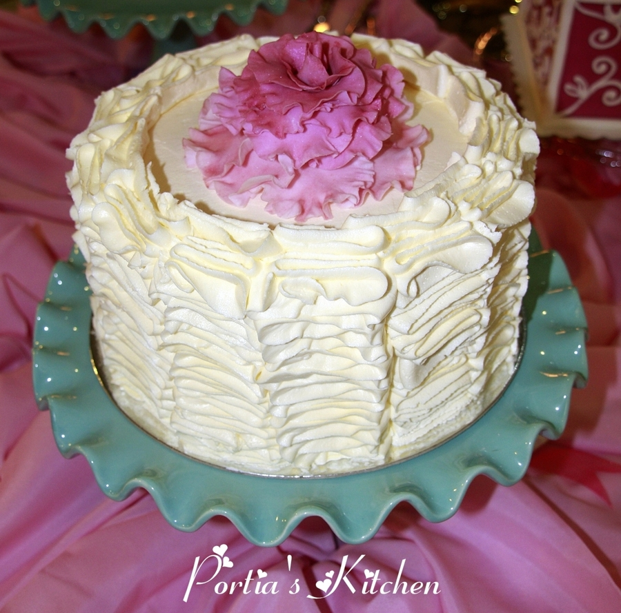 Ruffle And Rose Cake on Cake Central
