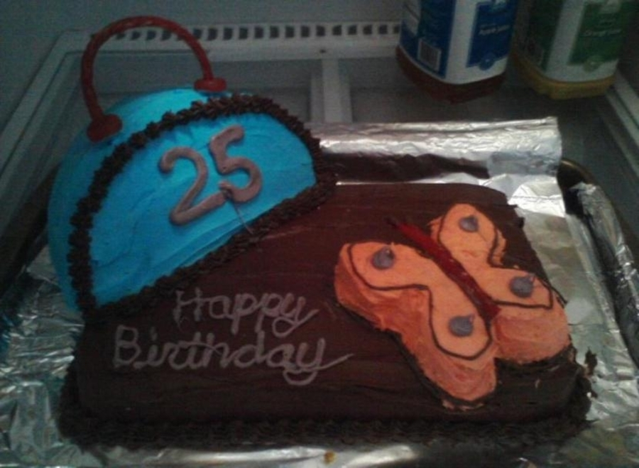 Purse And Butterfly Birthday Cake on Cake Central
