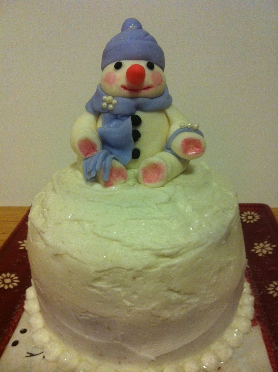 Snow Lady Cake on Cake Central