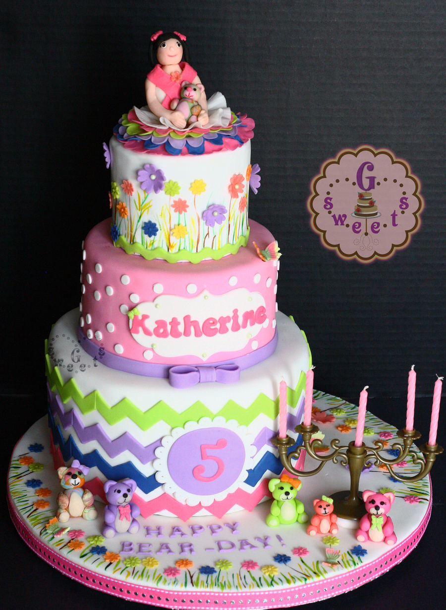 Bear Themed Party Cake Cakecentral Com