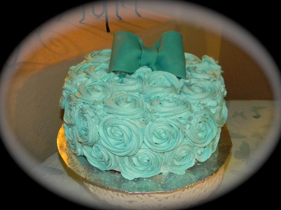 Rosette Birthday Cake Whip Cream Frosting Almeretto Cake
