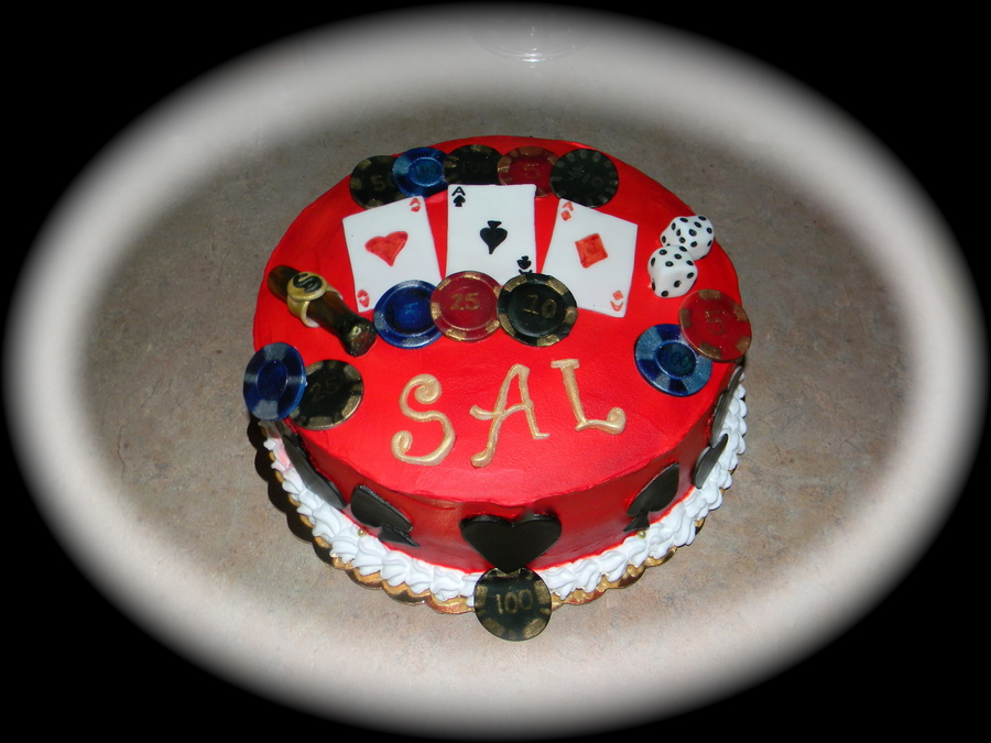 Casino Themed Birthday Cake  on Cake Central