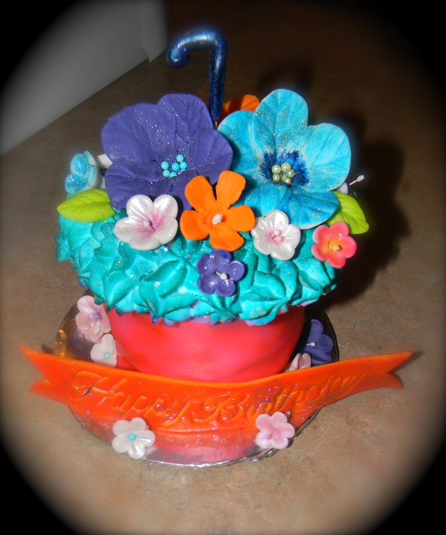 Mini Birthday Cake Hawaiian Themed  on Cake Central