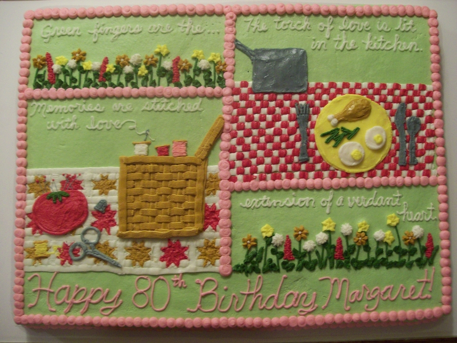 80th birthday cake for Gardening 80th birthday cake