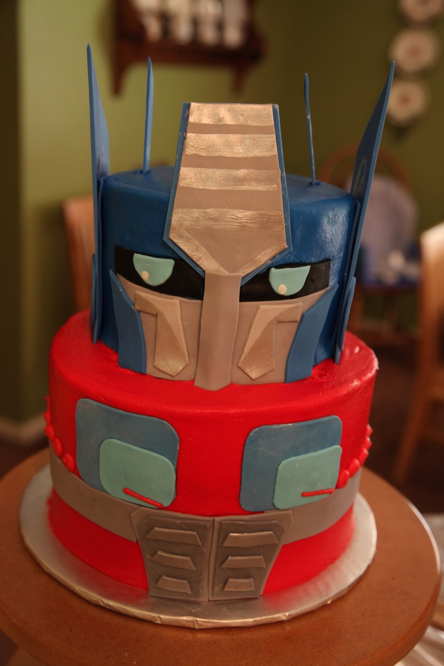 Optimus Prime Birthday Cake on Cake Central