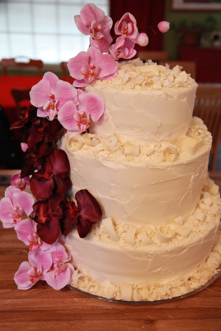 Astounding Orchids And White Chocolate 50Th Birthday Cake Cakecentral Com Funny Birthday Cards Online Aboleapandamsfinfo