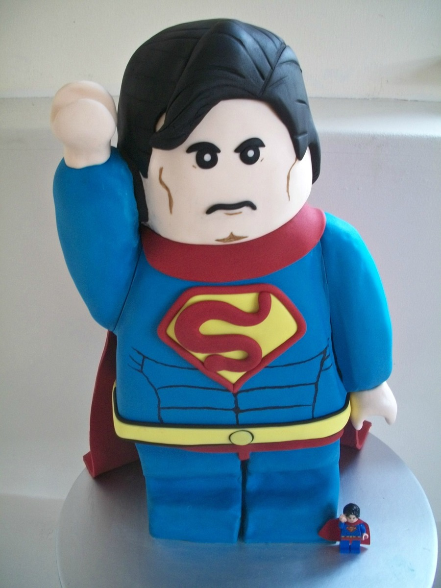 Lego Superman I Made This For My Sons Birthday Today on Cake Central