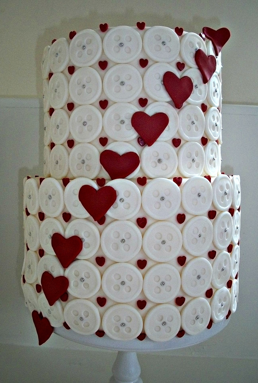 Hearts And Buttons on Cake Central