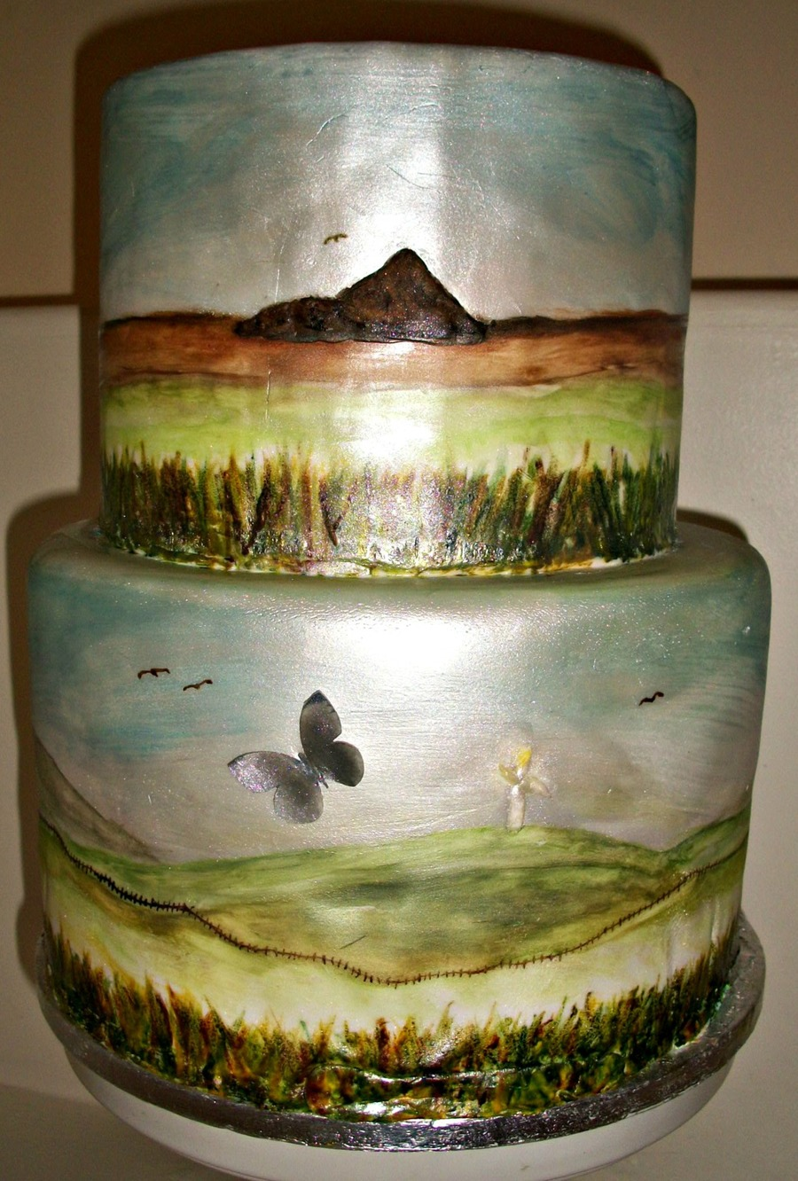 Hand Painted Cake on Cake Central
