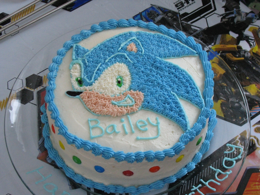 Sonic  on Cake Central