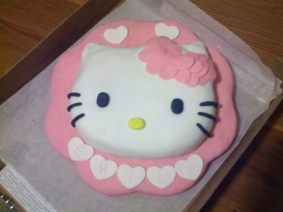 Cake Hello Kitty Pink : Pink And White Hello Kitty Cake - CakeCentral.com
