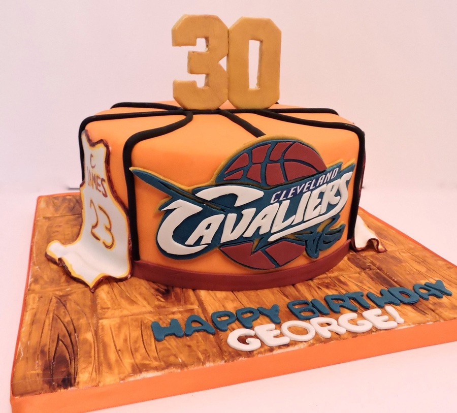 Lebron James Cavaliers Cake