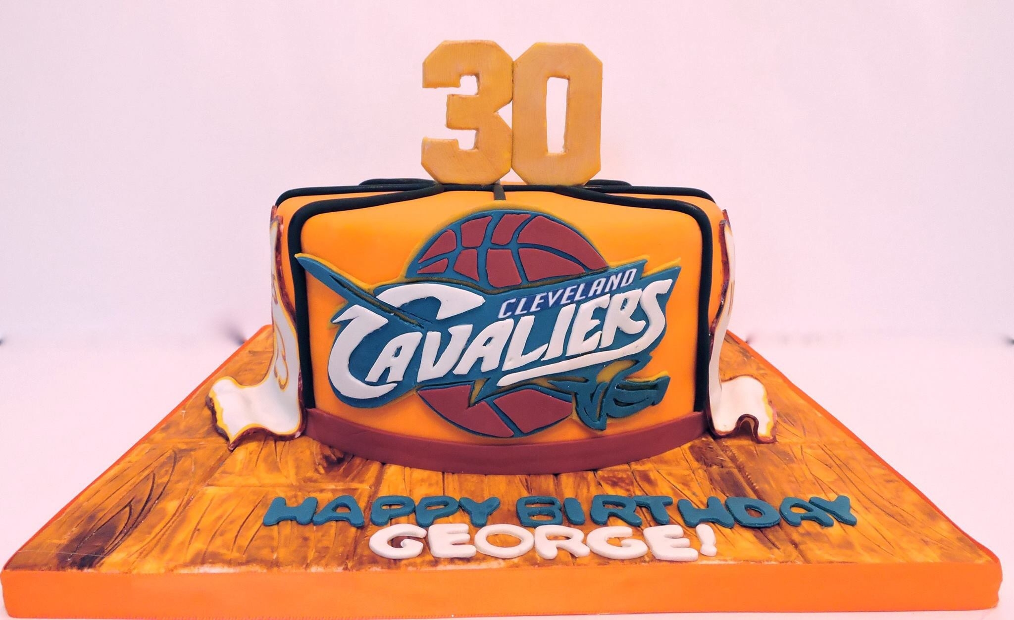 Cleveland Cavaliers Basketball Cake For Mans 30th Birthday