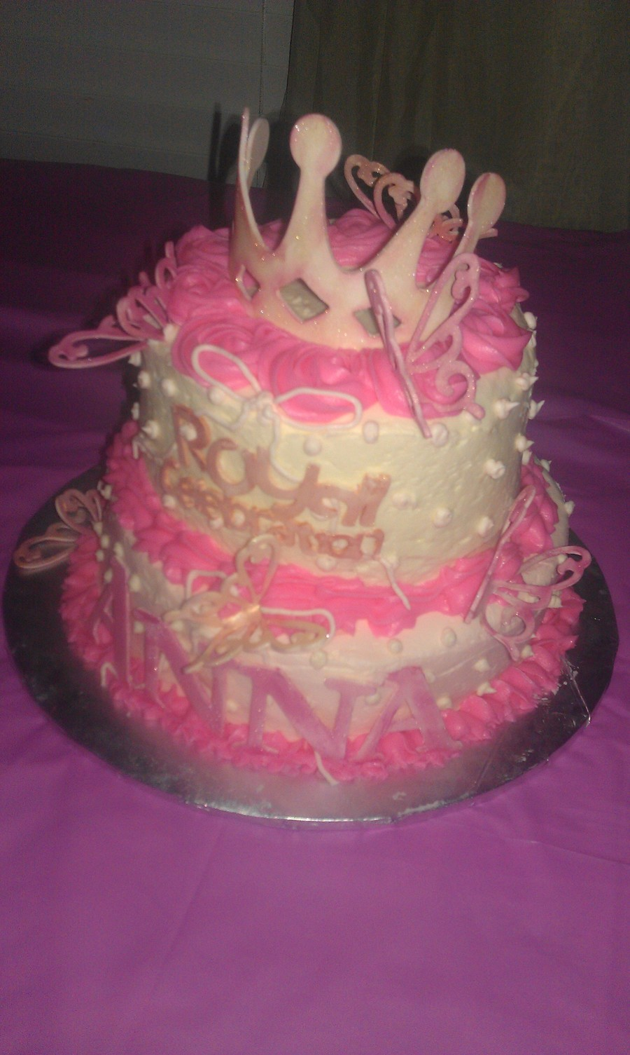 Royal Princess Birthday Cake Two Tier Also Made With Cricket Cake