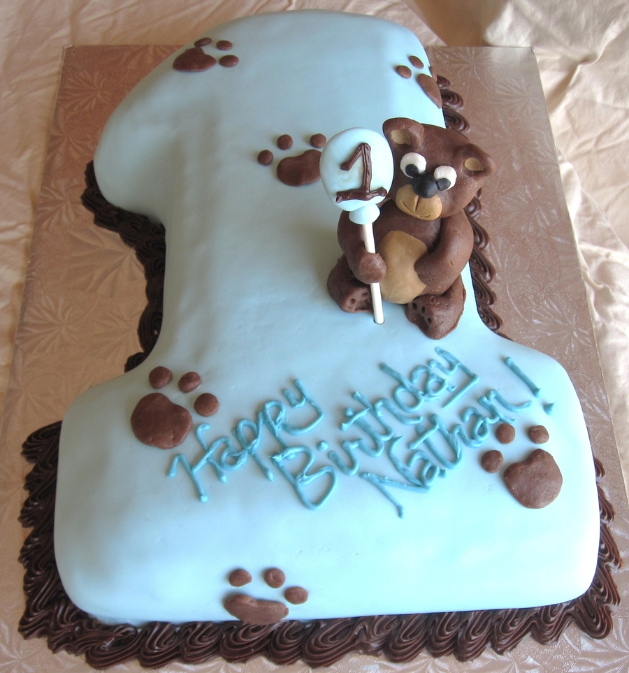 First Birthday Bear Cake on Cake Central