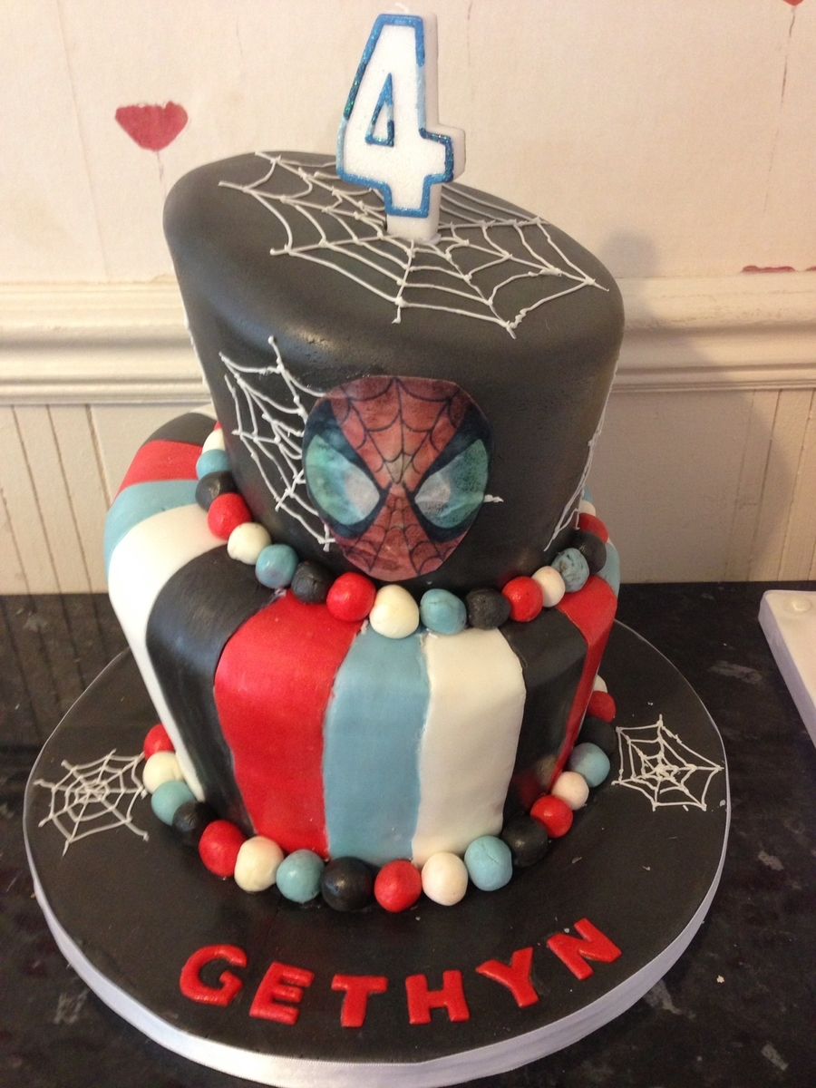 Topsy Turvy Spider-Man Cake on Cake Central