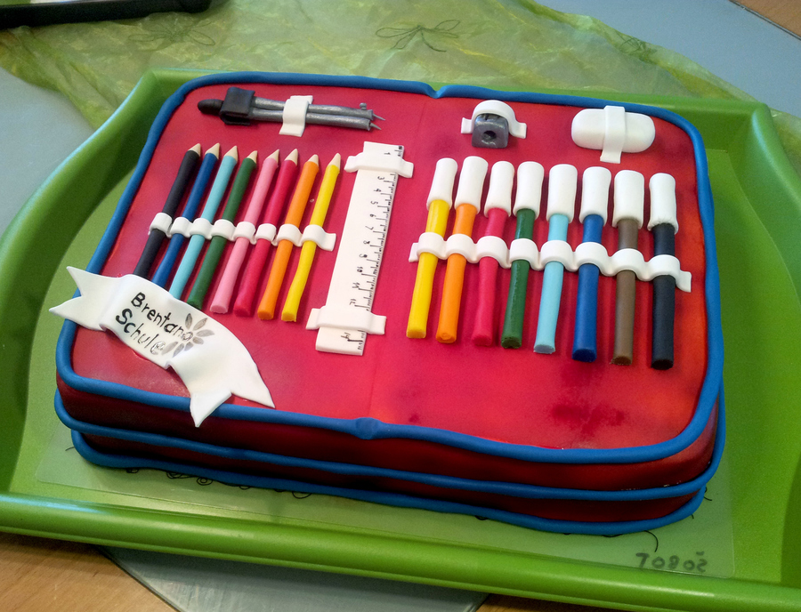 Pencil Case Cake on Cake Central