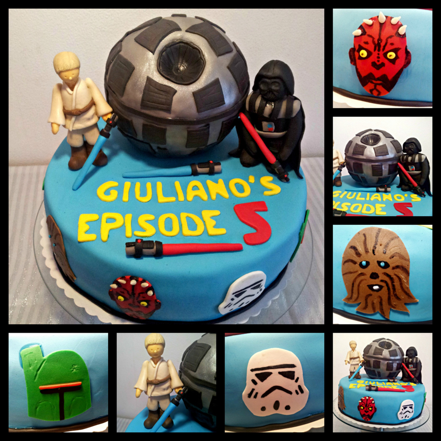 Starwars Cake With Death Star  on Cake Central