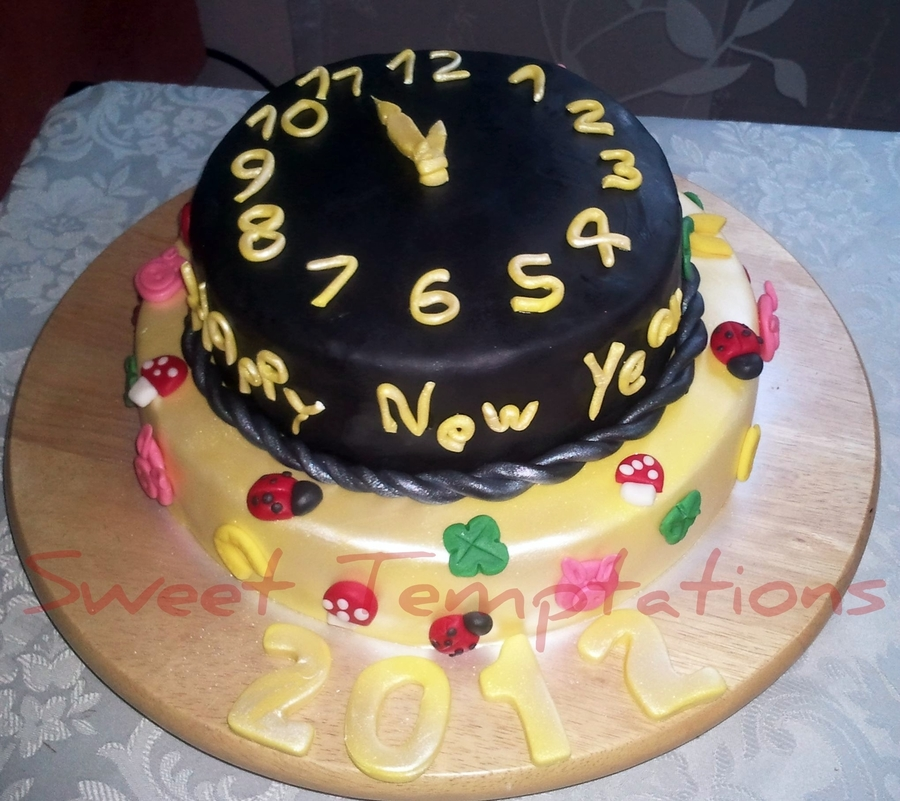 New Years Eve Cake, Silvester on Cake Central