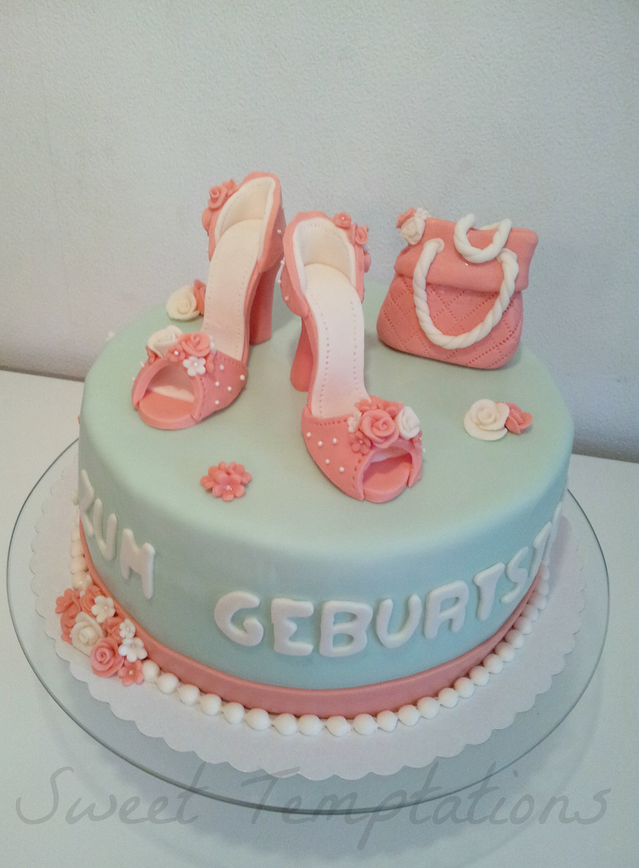 High Heels With Purse Cake on Cake Central