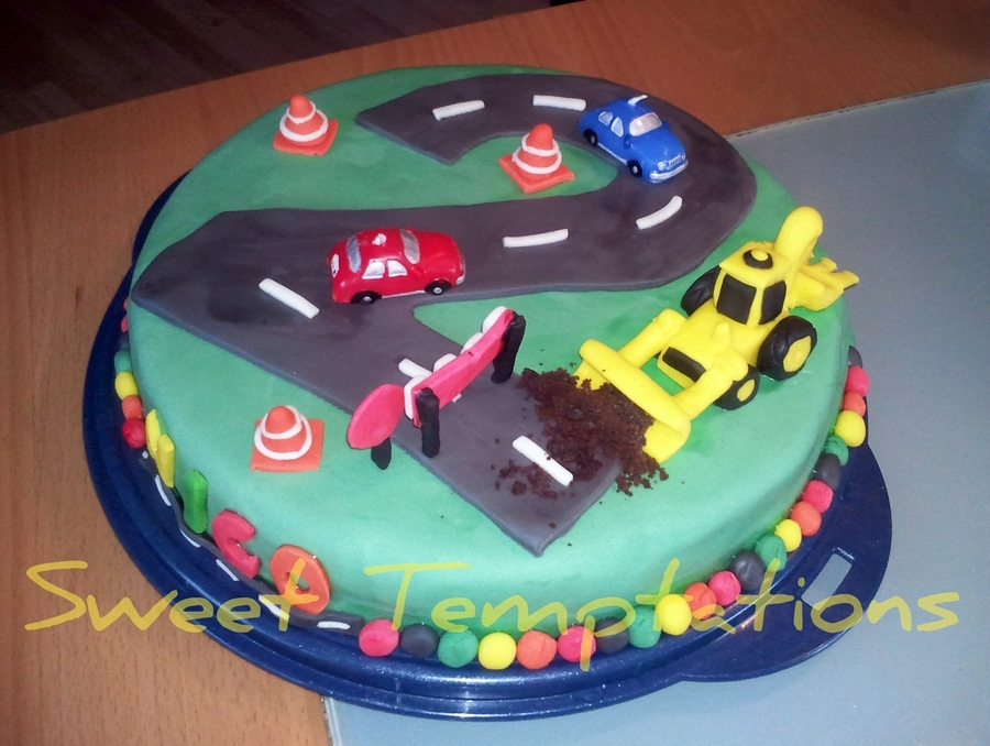 Excavator Cake For 2 Birthday Cakecentral