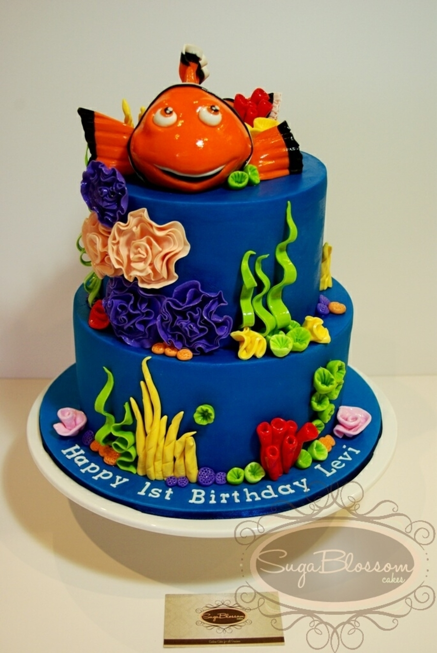 Fabulous Finding Nemo Birthday Cake Cakecentral Com Personalised Birthday Cards Cominlily Jamesorg
