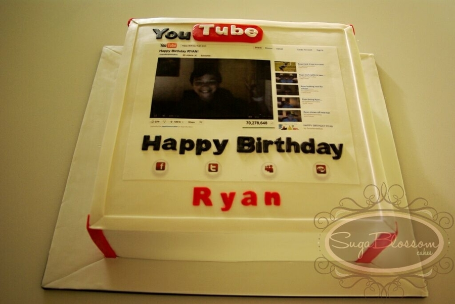 You Tube Birthday on Cake Central