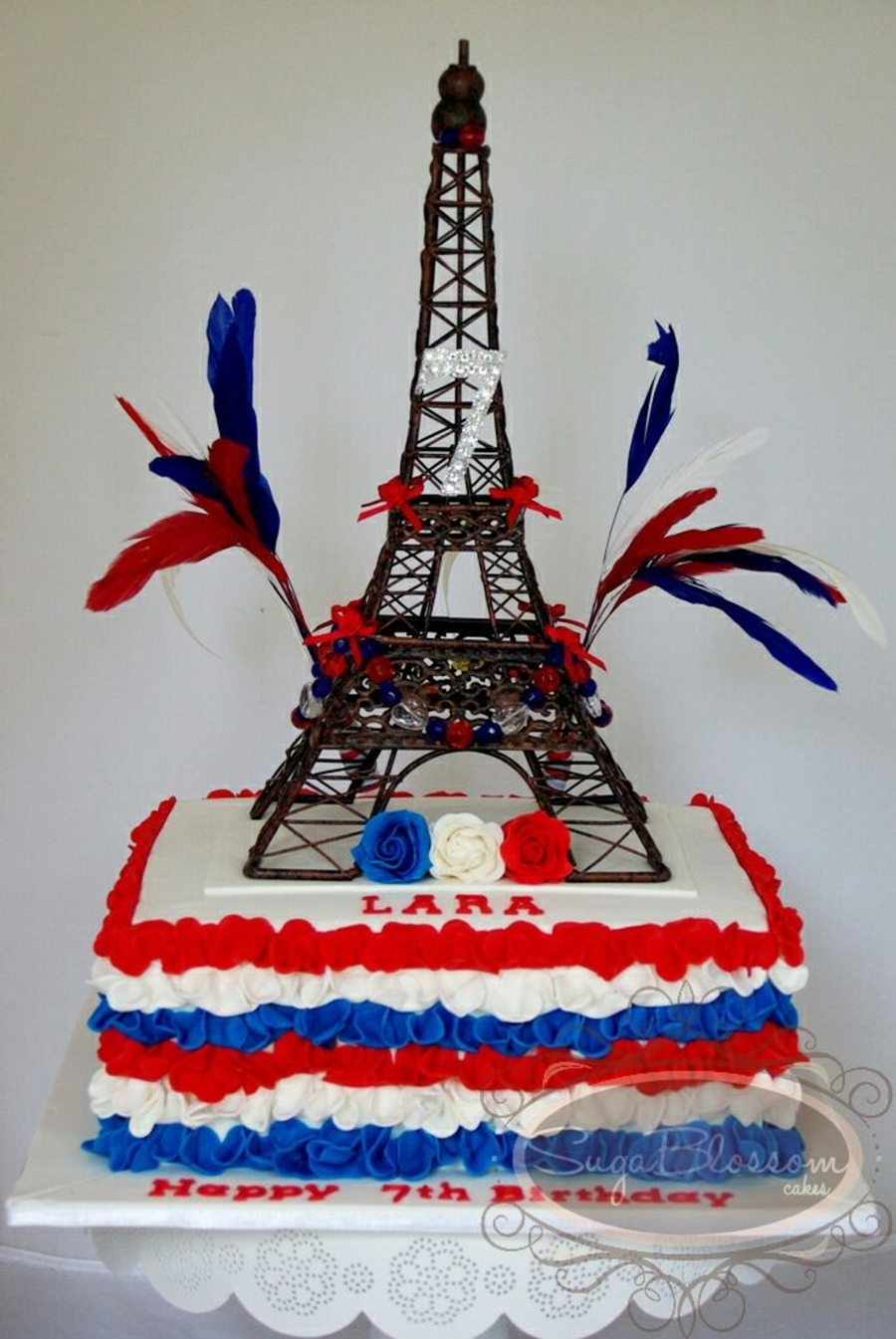 Lara S French Inspired Birthday Cakecentral Com