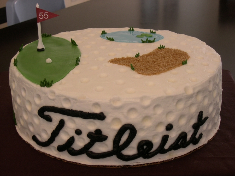 Marvelous 55Th Birthday Golf Cake Cakecentral Com Funny Birthday Cards Online Inifofree Goldxyz
