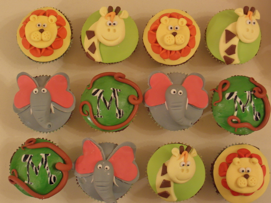 Jungle Animal Cupcakes on Cake Central