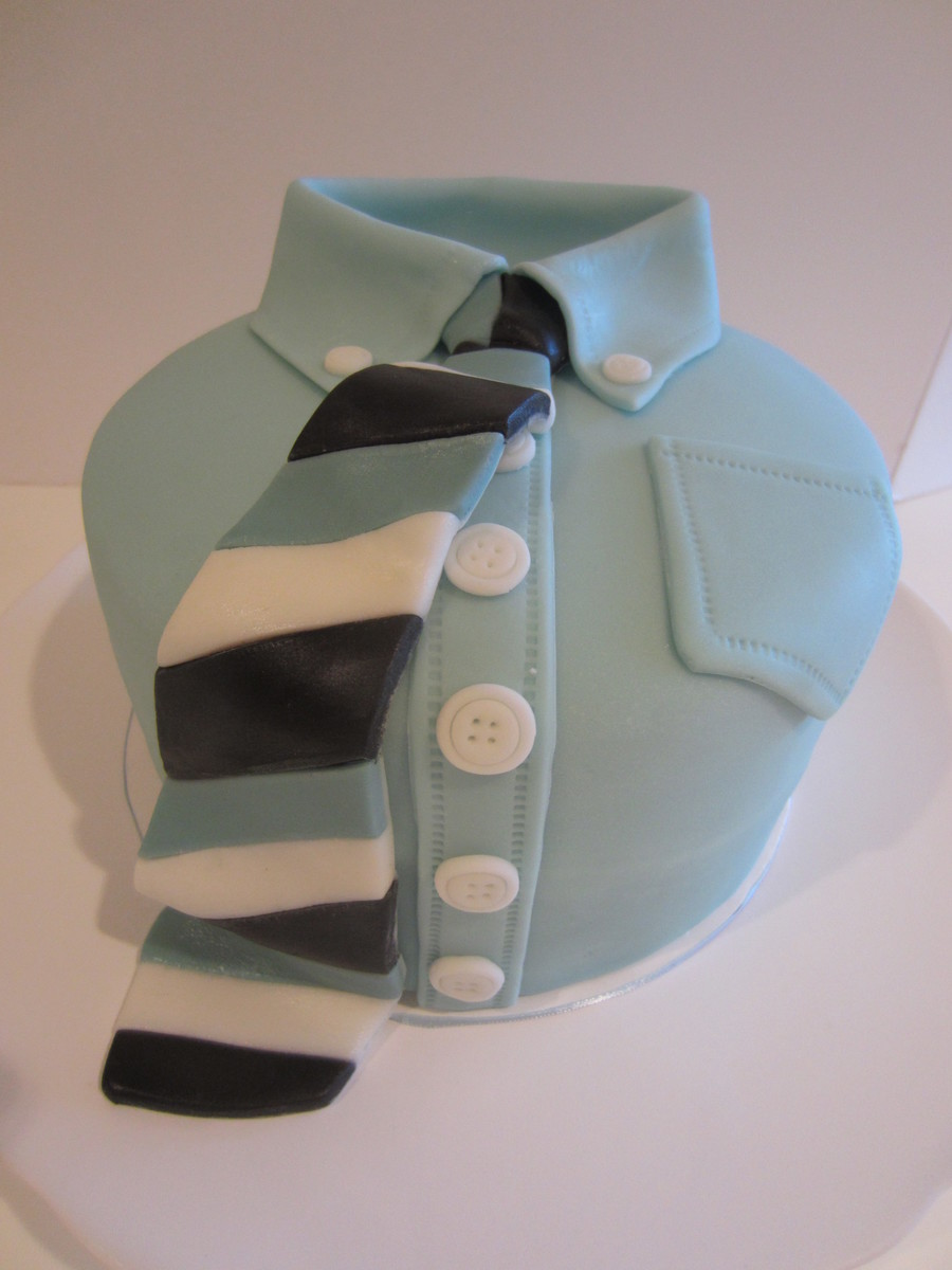 Three Layer Round Shirt And Tie Cake To Celebrate One Of