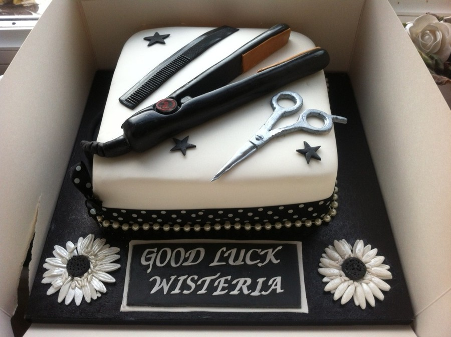 Ghd hair salon cake for Salon cake design