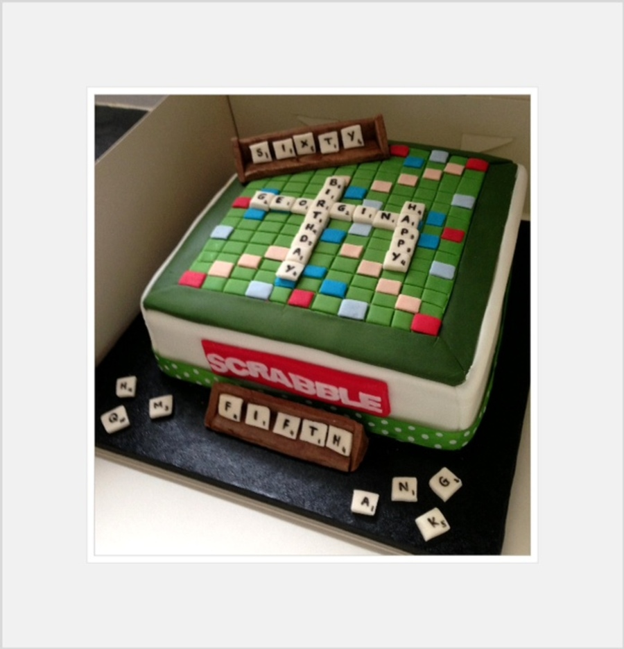 Scrabble Board Cake For 65Th Birthday on Cake Central