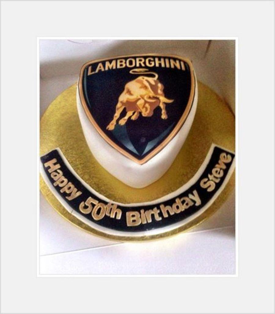 Lamborghini Badge Cake Gold And Black Cakecentral Com