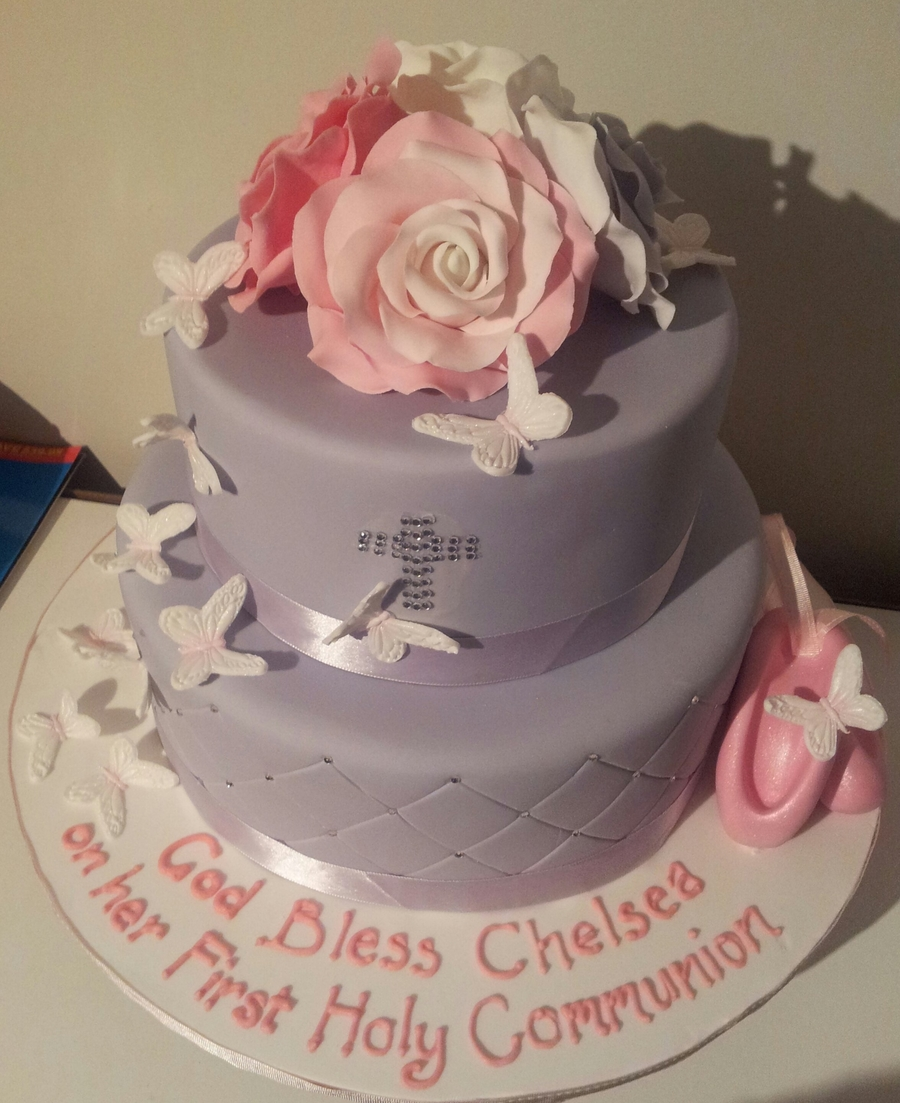 Girl First Communion Cake on Cake Central