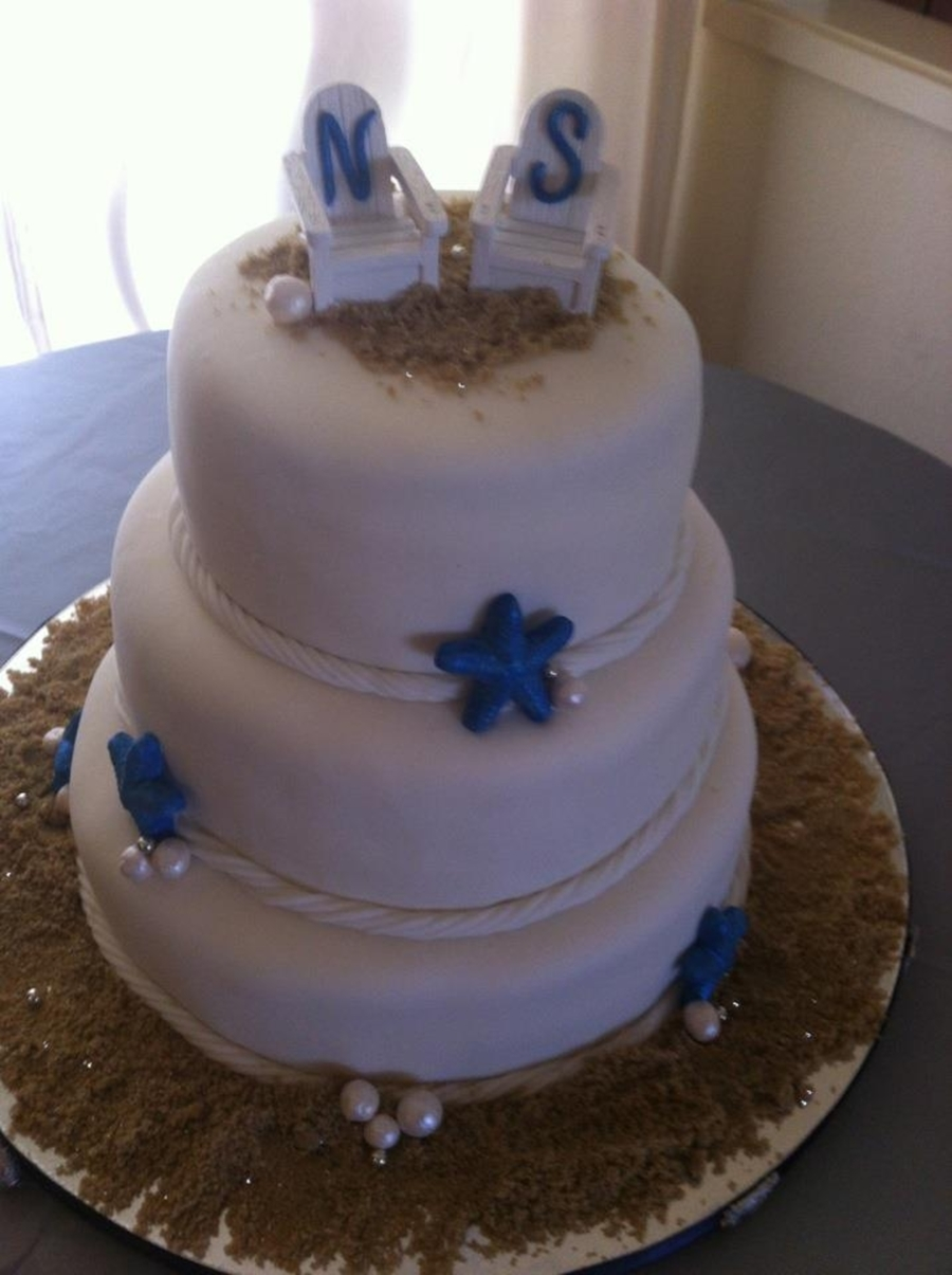 Beach Theme Wedding Cake on Cake Central