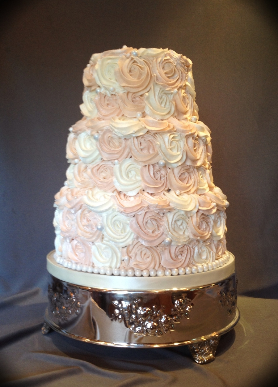 wedding cakes in rosette wedding cake cakecentral 24569