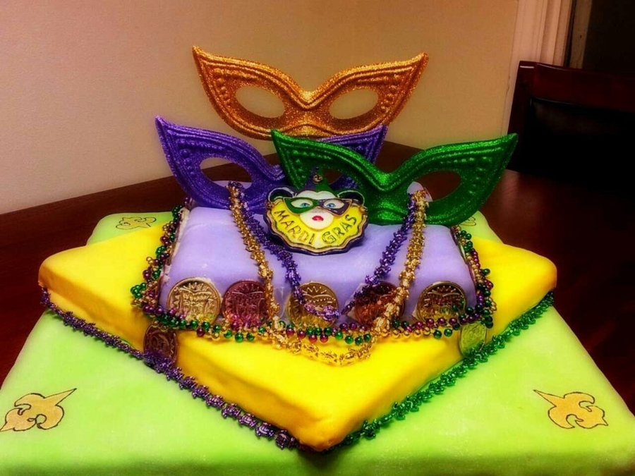 Mardi Gras Cake on Cake Central