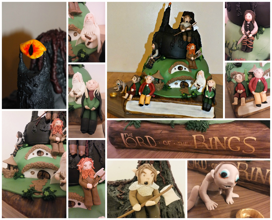 So This Was The 1St Cake This Year I Loved Making It And It Consists Of The Lord Of The Rings Book Handpainted The Shire And Mordor With on Cake Central