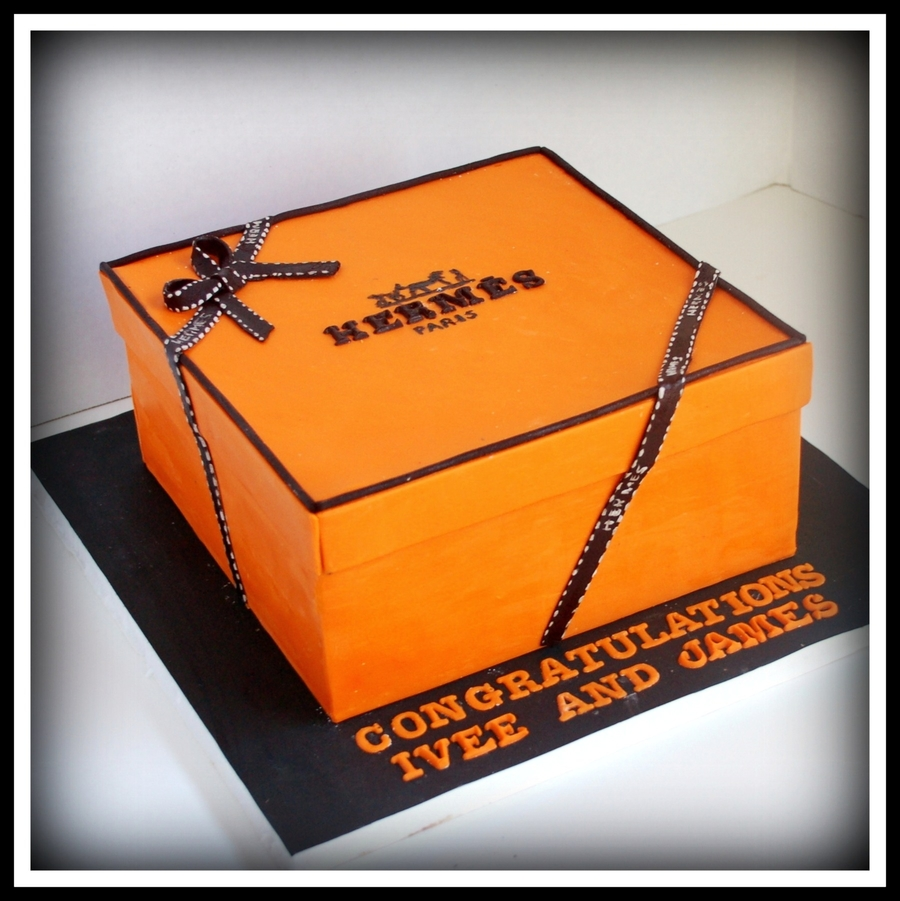 Hermes Box Cake on Cake Central
