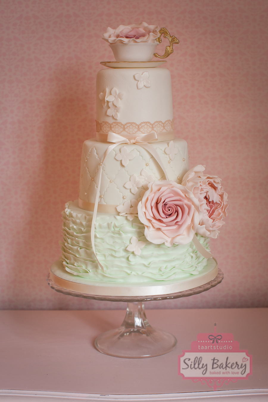 Wedding Cake Vintage Teacup Cakecentral Com