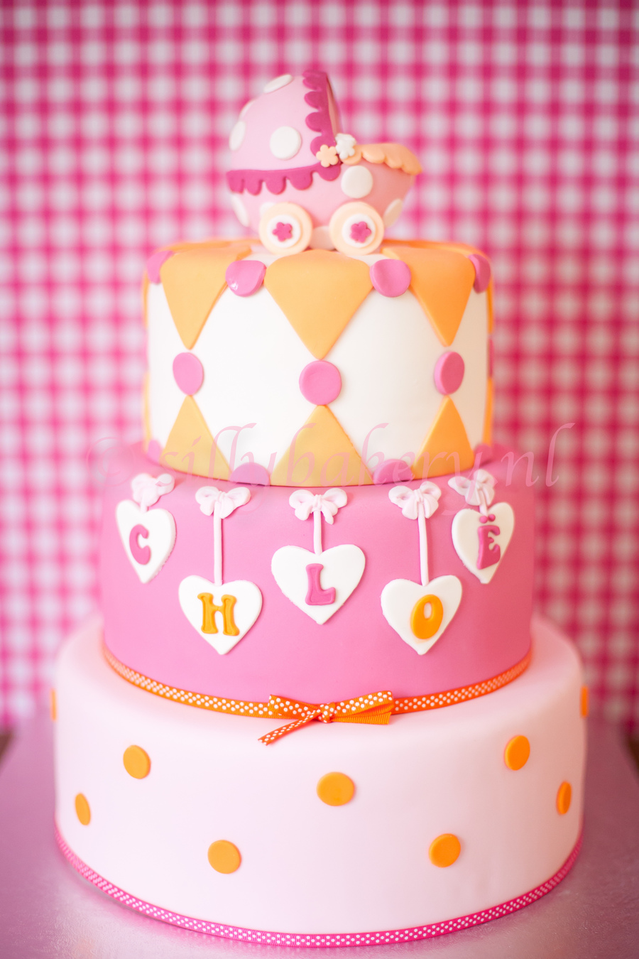Baby Shower Cake Geboorte Taart Kraamfeest Taart Silly Bakery  on Cake Central