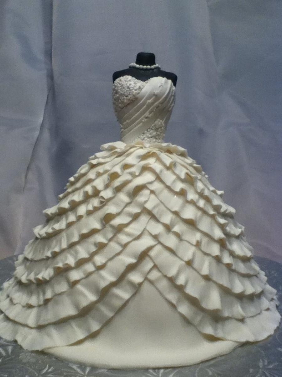 Wedding Dress Cake Cakecentral Com