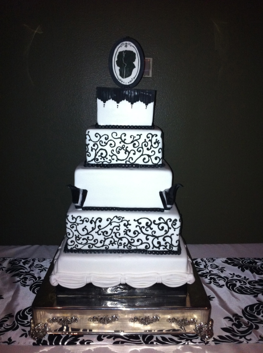 black and white wedding cake photos black and white wedding cake cakecentral 11845
