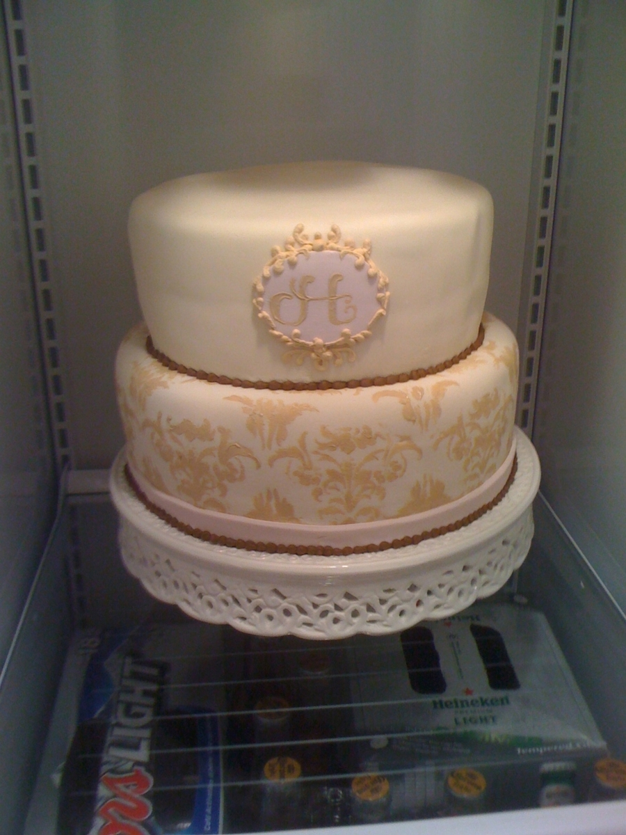 Monogram Elegant Anniversary on Cake Central